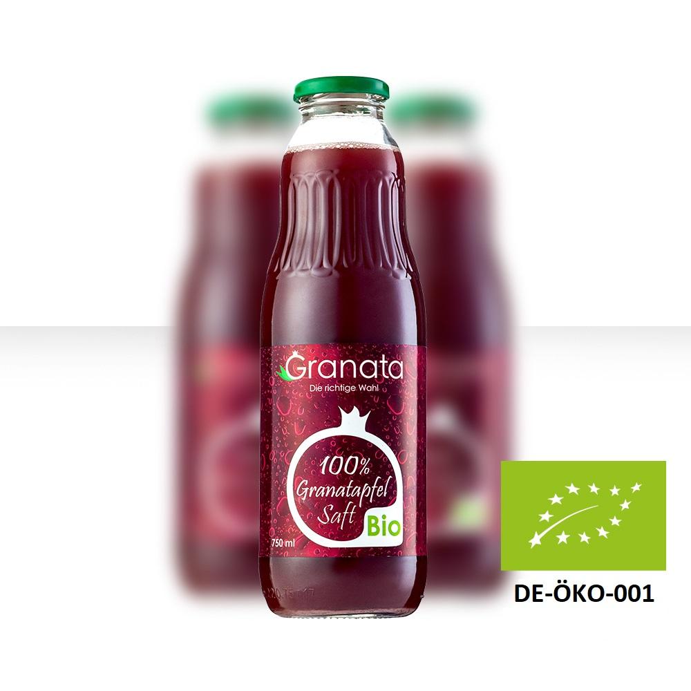Bio Granatapfelsaft Flasche 0,75 Liter