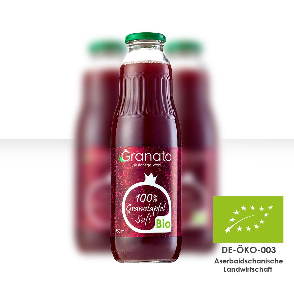 Bio Granatapfelsaft Flasche